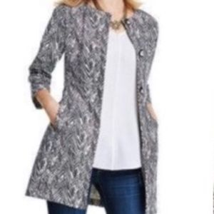 CAbi Jackets & Coats - Cabi Zigzag Ponte Knit Button Jacket